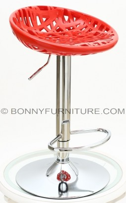 107-2 bar stool nest red with footrest
