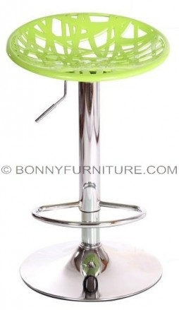107 bar stool nest green with footrest