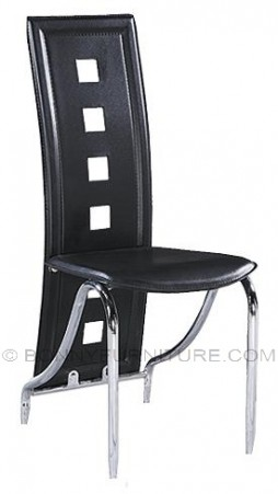 911 dining chair leatherette black