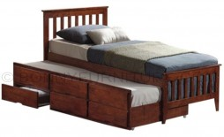 galvin trundle bed with pull-out and drawers