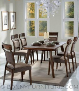 hope dining set 6-seaters wooden cushion seats