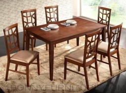 micah dining set 4-seater 6-seater wooden cushion seat
