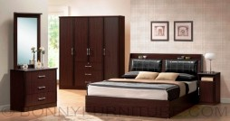 orlando bedroom set queen size bed dresser wardrobe side table