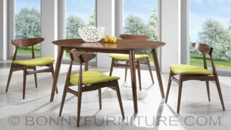 paul dining set 4-seater 6-seater new design wooden cushion seat