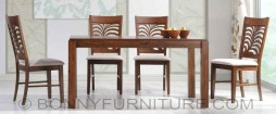 peace dining set 6-seaters wooden cushion seat