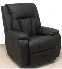 t095 recliner sofa chair black