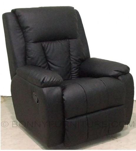 t095 recliner sofa chair black