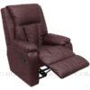 t095 recliner sofa chair brown