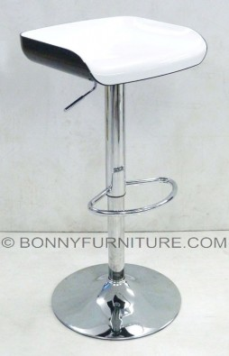 wy-199a bar stool with footrest black