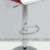 wy-199a bar stool with footrest red