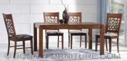 wonderful dining set 6-seater wooden cushion seat