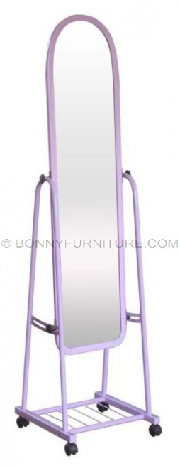 3113 mirror stand with caster pink