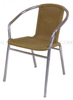 ac-02 plastic rattan chair chrome frame