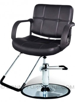 co-135 barber chair leatherette black