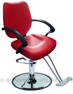 co-33 barber chair leatherette red
