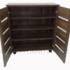 sc-335 shoe cabinet 4-layers open french walnut
