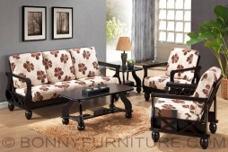 yg 311 wooden sala set with center table and side table