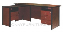 ax1800 executive table with side table and drawers