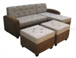 CISCO#1002 l-shape sofa with 2 pcs stools