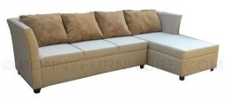 cisco#1007 l-shape sofa with pillow