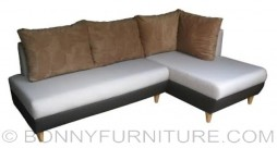 cisco#1014 l-shape sofa with cushion