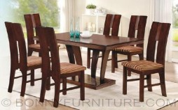 joash dining set 6-seaters cushion seat