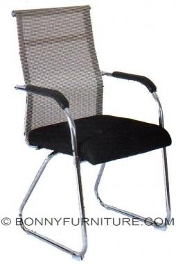 tx-4019 nylon mesh sled base visitor chair