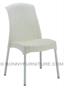 080-a plastic chair chrome legs white
