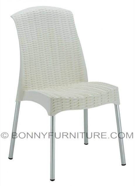 080-a plastic chair chrome legs white