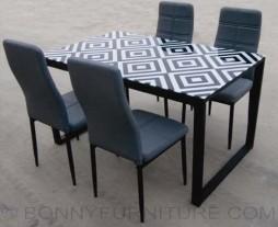 jit-peri dining set 4-seater