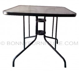 outdoor table t-06 glass top square