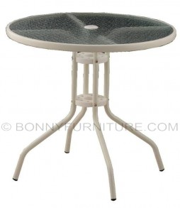 outdoor table t-07 glass top round
