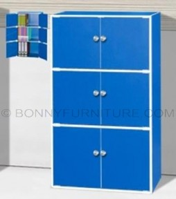 ur 6015 storage cabinet book shelf blue