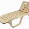 siesta bed marble beige beach chair with backrest