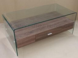 6214 center table glass with drawer