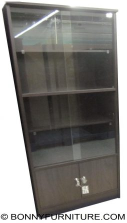 bs-vtfp190 book shelf with sliding glass
