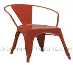 ed505 chair metal frame red