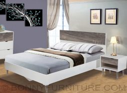 888281 wooden bed queen size 888283 side table
