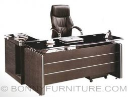 1607 executive table l-shape glass 1.6m