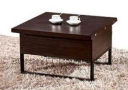 ctd-02 center table dual purpose brown metal legs