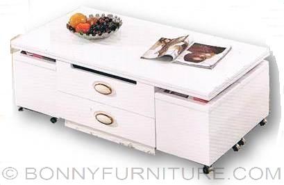 Expandable Center Table White