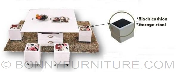 Expandable Furniture ctd-01 expandable center table with stool - bonny furniture