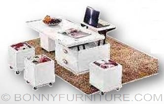 Ctd 01 Expandable Center Table With Stool Bonny Furniture