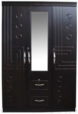 jit-3807 3-door wardrobe with mirror