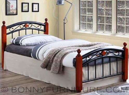 Jit Lx36 Steel With Wooden Post Bed Single Size Bonny Furniture