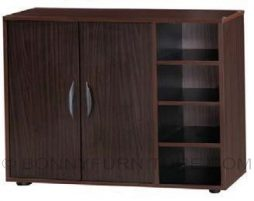 jit-s44 shoe cabinet with side shelf