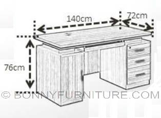 Ot 5003 office table bonny furniture for Dimension table bureau