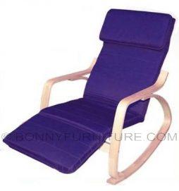 rocking chair cushion blue