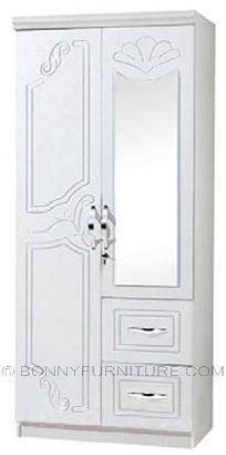 sk-12 2-door wardrobe with mirror