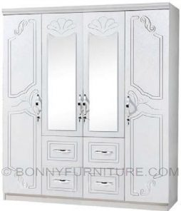 sk-14 4-door wardrobe with mirror